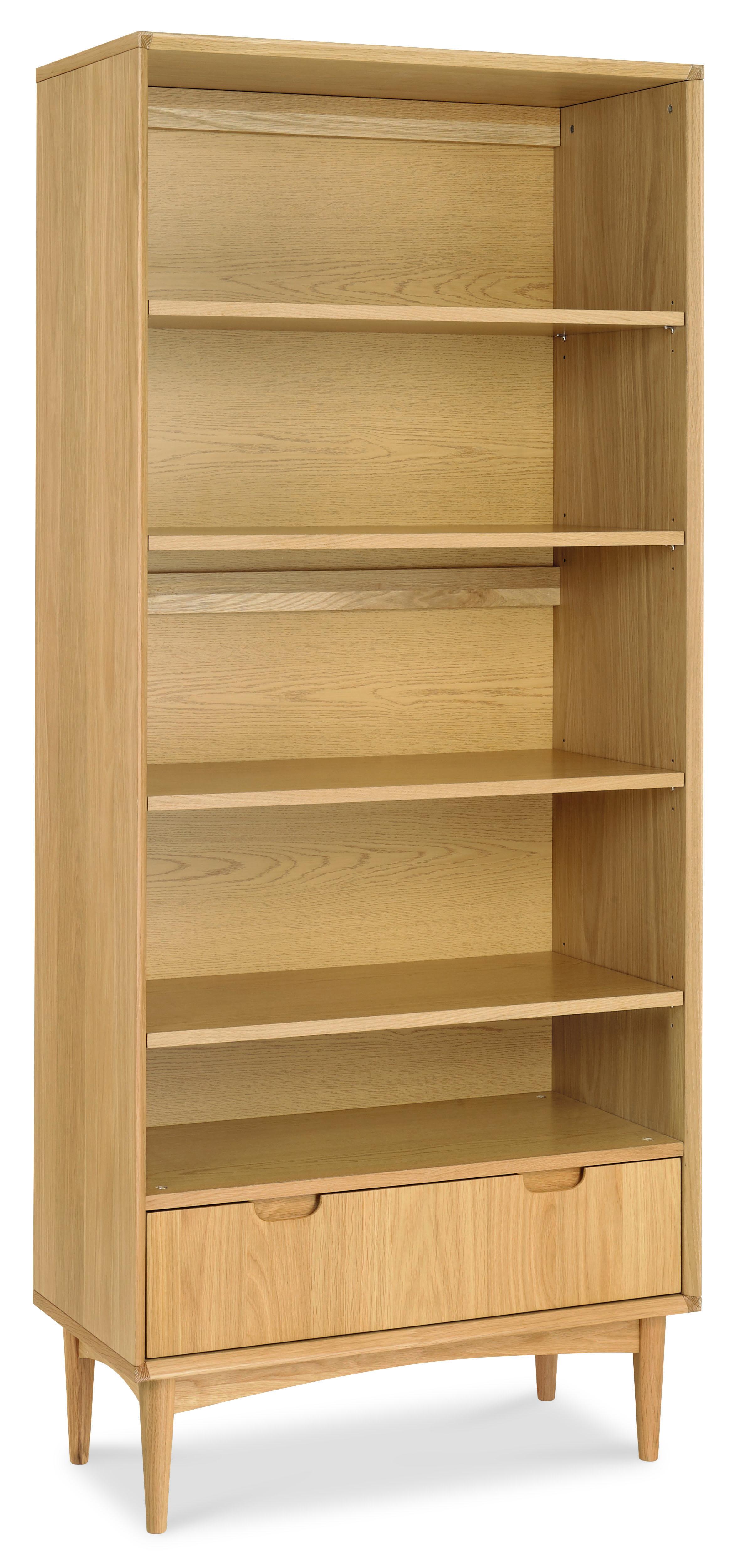 Oslo Oak Wide Bookcase