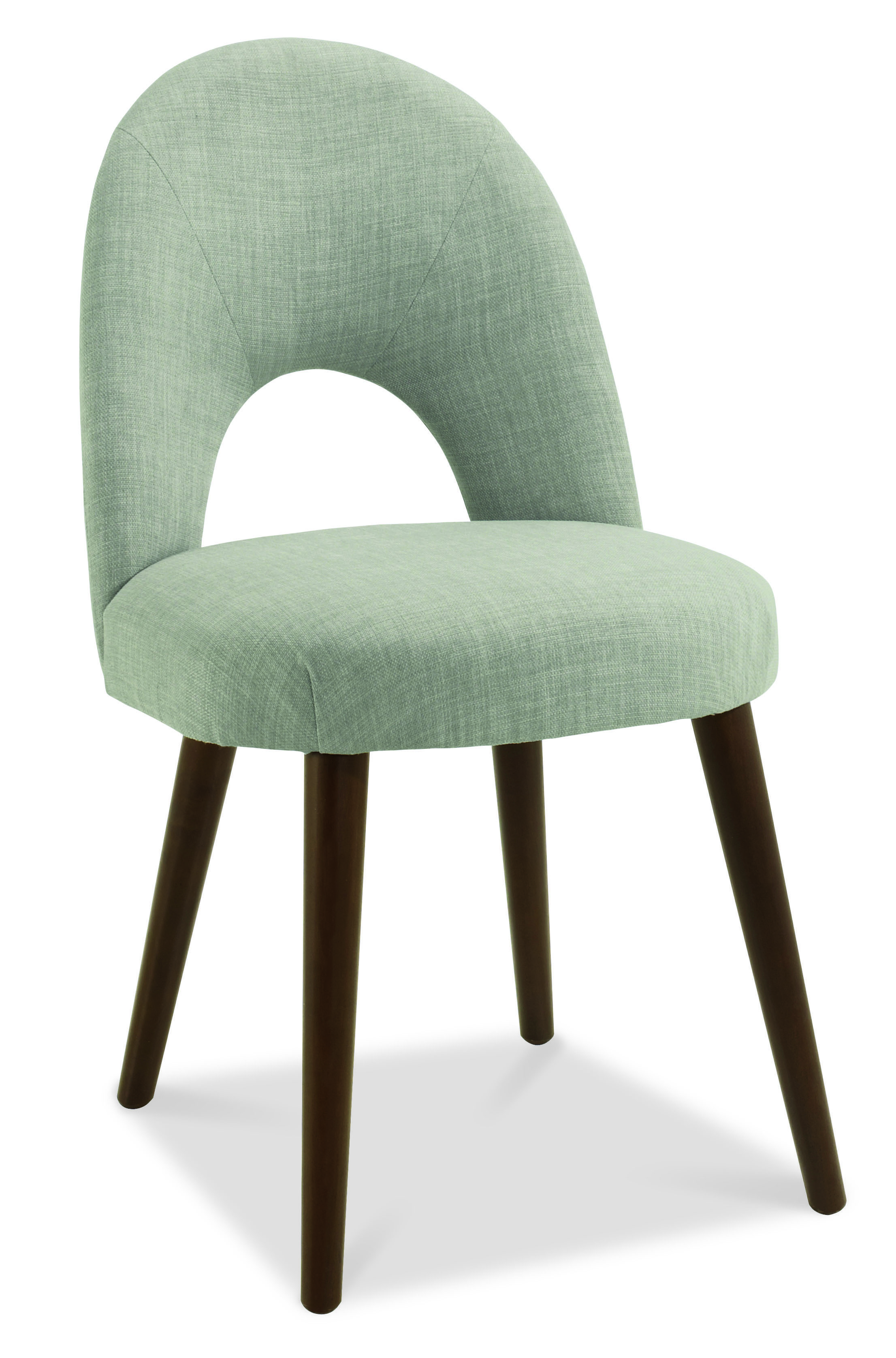 Oslo Walnut Linen Fabric Upholstered Dining Chairs - Upholstered dining chairs uk