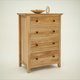 Hereford Rustic Oak Four Drawer Medium Chest - With Accessories