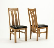 Devon Oak Arizona Chairs - Pair