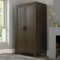 Lyon Walnut Double Wardrobe