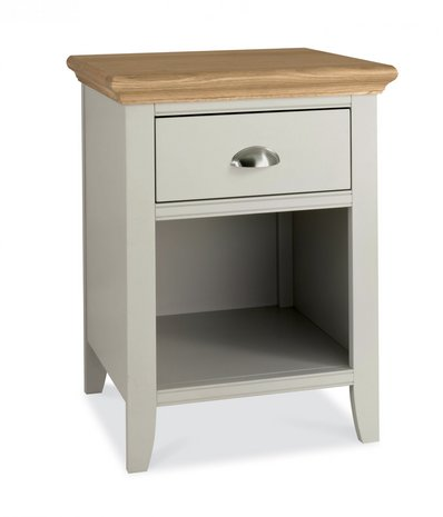 Hampstead soft grey and oak 1 drawer nightstand - Elegant types of nightstands ...