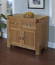 Santana Blonde Oak 2 Door 2 Drawer Sideboard